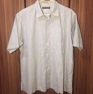 Issey Miyake Crumpled Stripe Shirt for men