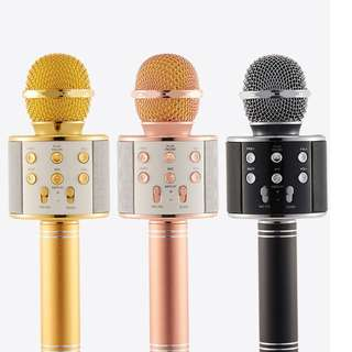 Bluetooth Microphone Wireless Condenser Karaoke Mobile Phone Player MIC Speaker