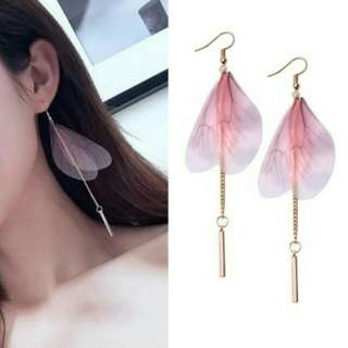 IMPORT - Anting Dragonfly Wing Long Copper Tassel