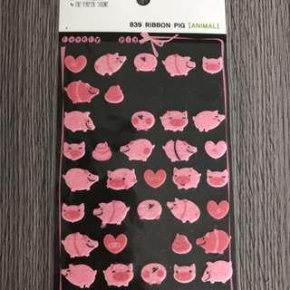 Pig piggy stickers