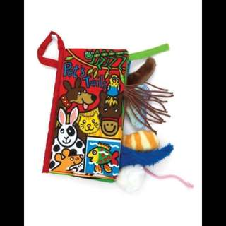 Pet tails baby cloth book