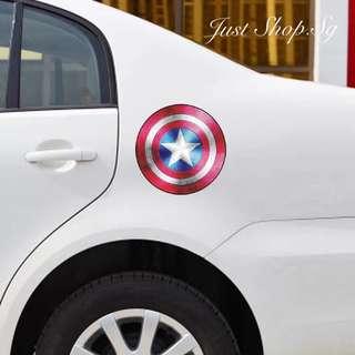 Captain America Fuel Cover Sticker / Decal