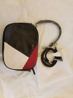 Agnis b tricolor shoulder bag