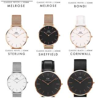 PO 100% authentic DW DANIEL WELLINGTON WATCHES