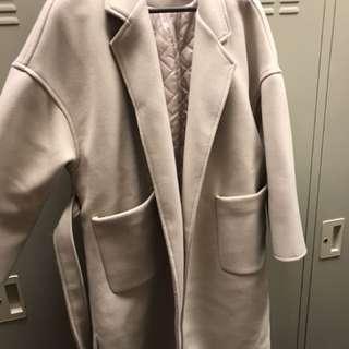 🚚 韓版杏色大衣
