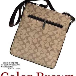 Coach sling bag size : 12 inches