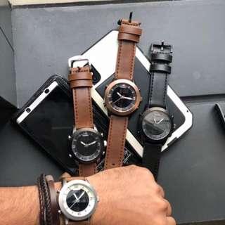 Fossil Pilot 54 Analog-Digital  Leather Watch