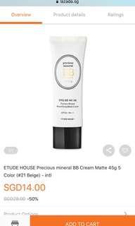 Etude House precious mineral BB Cream Matte #Beige