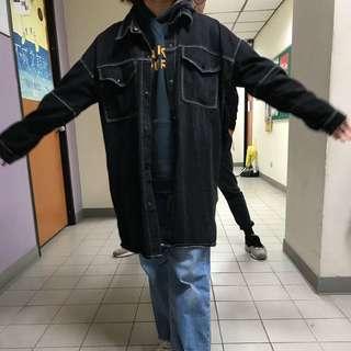 長板黑牛仔外套