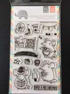 Mama Elephant Festive Mice Clear Stamps