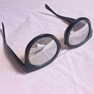 Black & Silver Mirror Sunglasses