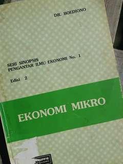 Ekonomi Mikro (By: Dr. Boediono)