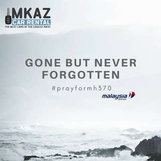 Car Rental : Remembering MH370