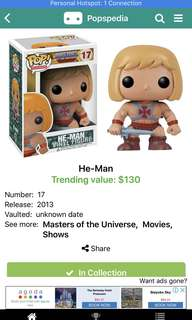 Funko Pop! Masters of The Universe He-Man #17