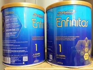 【觀塘】12罐$1560  Enfinitas 1號 美贊臣 藍臻 400克 奶粉 食用期至2019年7月