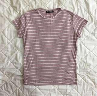brandy melville sammy pink stripes shirt