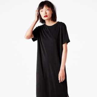 Monki Black T-shirt Maxi Dress