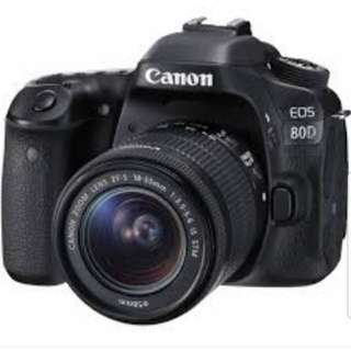 Canon 80D DSLR Camera for Expert level Photography/Videography