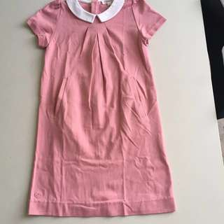 Pink Dress with white collar