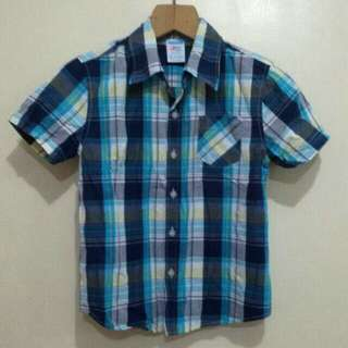 Plaid polo for boys