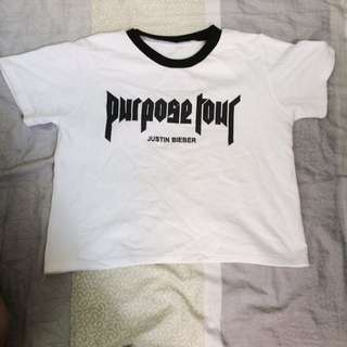 Purpose tour crop top shirt