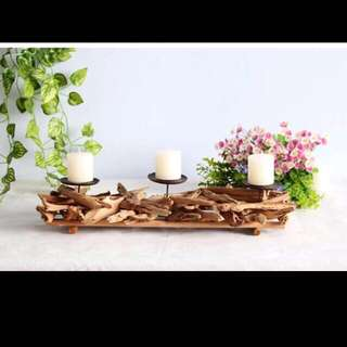 ✔️Last few sets ✔️Brand New Designer wooden candle holder. Ideal for home, restaurant/bar... Design to create a cosy ambience❗️3 types avail! 2/3/4 candle design. Do refer to photos 😁