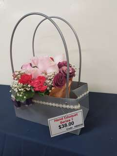 Supply hampers and flowers