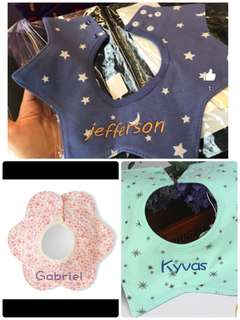personalized bibs for your little one
