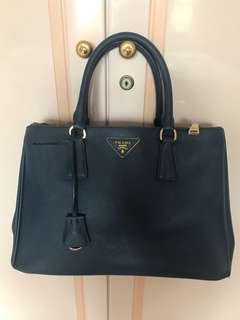 Prada saffiano navy with strap