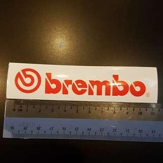 Brembo original sticker