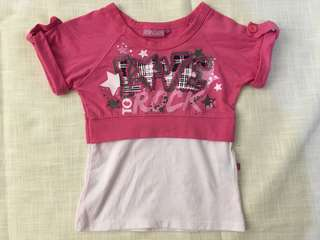 Charity Sale! Authentic Pop Cafe Size 2 Girls Love to Rock T-shirt