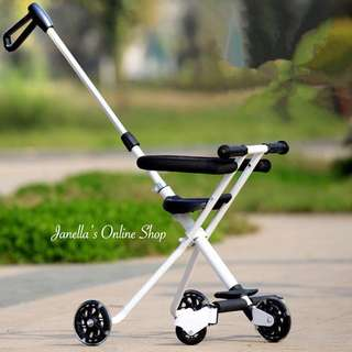 Baby simple folded stroller with safety fence