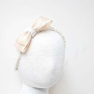 Tiara pearl headband