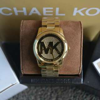 Michael Kors Runway Logo Gold-Tone Watch (MK 5852)