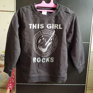 H&M Sweater Top Black Rock