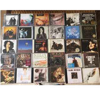 Cd (2 or more cd of the same artist: Bjork, Cypress Hill, Susheela Raman, Alison Kraus, Alanis Morissettre, Lighthouse family, Tori Amos, Simon and Garfunkel, Morcheeba...)