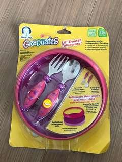 Gerber graduate bowl and utensils