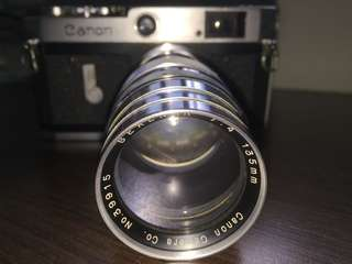 Vintage canon serenar 135mm (lens only)