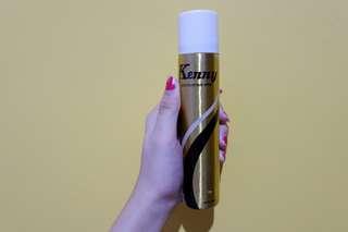 GOLD hair spray color