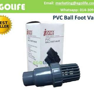 """i-One PVC Ball Foot Valve Thread [Size: 1"""" or 1 1/4"""" or 1 1/2"""" or 2""""]"""