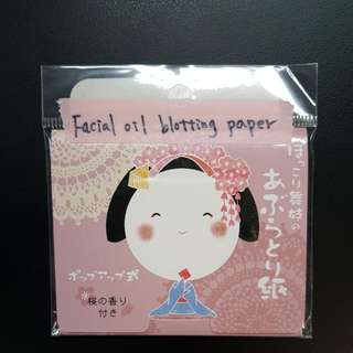 BRAND NEW!! Facial Oil Blotting Paper from Japan