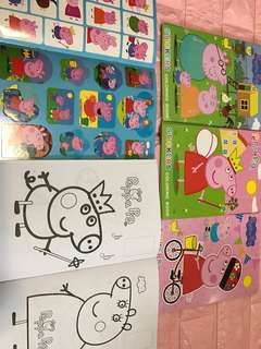 Instock Peppa Pig A5 Coloring And sticker book brand new