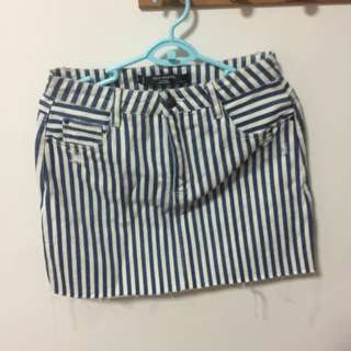 BN Factorie High Waisted Vintage Skirt in Stripes