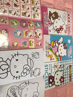 Instock hello kitty A5 Coloring And sticker book brand new
