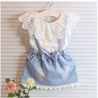 Girl Dress Princess  Denim