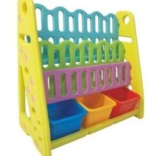 4 Tier With Box Children Book Shelf / Rack
