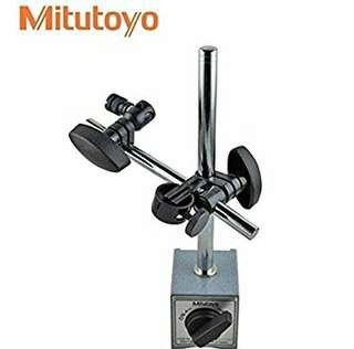 """Mitutoyo 7010S-10 Magnetic Stand 6"""" Rod & Universal Clamp"""