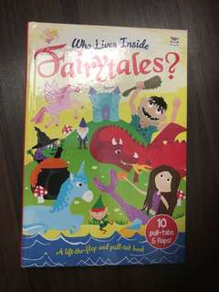 Interactive book for kids- fairytales(hardcover)