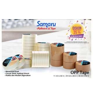 SAMARU TAPE - OPP TAPE 43 mic - LAKBAN 45 mm x 50 m - Brown