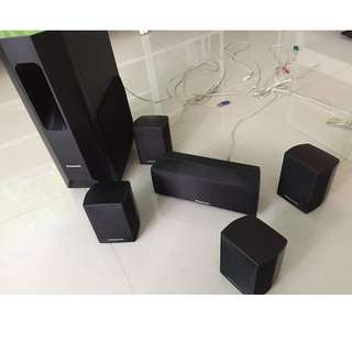Speakers only (Panasonic SC-PT470 Home Cinema System)